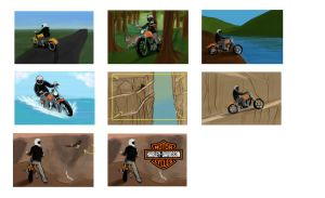 Harley Ad Storyboards by ACicco
