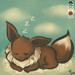 Palette Challenge - Eevee by LordBlumiere