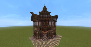 Minecraft Old English Corner House/Shop by Lil-Lintu