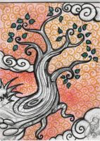 ATC ACEO The Tree by DawnyDawn