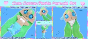 Plushie Noms Mermaid Hat by AnimeNomNoms