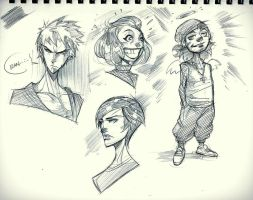 Ballpen Sketches  by COLOR-REAPER