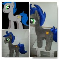 My Little Pony Stallion Plushie Commission by CINNAMON-STITCH