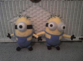 Minion Plushies by mistyfoxx244