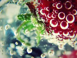 Strawberry Bubbles III by And-I-Walk-Alone