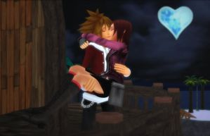 Sora x Kairi - Kiss Me Goodnight (Pic 2 of 4) by rev-rizeup