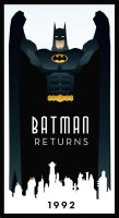 BATMAN RETURNS art deco by rodolforever