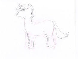 My first hand drawn unicorn. by Flutterflyraptor