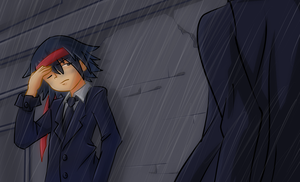 Character in the rain [request] by Shingo-Hayasa