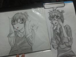 Len Kagamin (Before and after pic) by floriyon