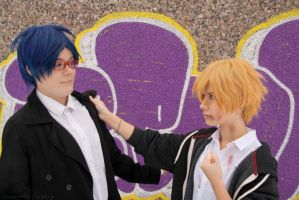 Rei and Nagisa -  The thuglife 'aint easy by PandoraiCosplay