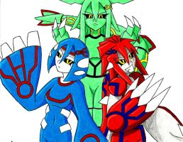 Groudon, Kyogre, Rayquaza by 2-94hedgehog
