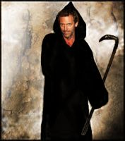 Dr. House as death by Ewanecka