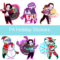 P4 Holiday Stickers (limited edition!!) by OmiOhMy
