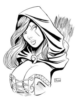 Zenescope Busts: Robyn Hood 2 by Shono