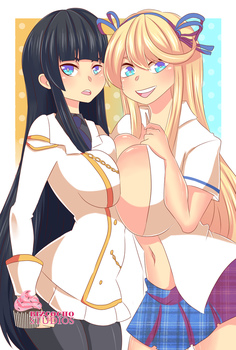 [COM] Katsuragi and Ikaruga by BizcochoStudios