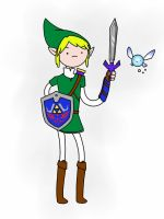 Link Adventure Time version by Iskimil