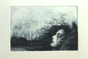 Dream (Fallen angel)   etching version by NikiAndo