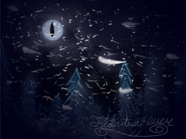 Wintry Moon by Flautist4ever