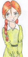 Anne Shirley with flowers by MysticalChicken