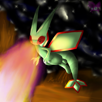 Flygon used dragonbreath by Beberux