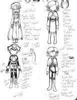 Sketches: Sorcerer's Symphony Casual 4 by MaryKosmosVer2