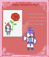 Vocaloid Valentines Day Card by GiantPurpleCat