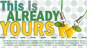 Limited Edition Sharable Paopu Fruit Strap Charm by OurDestinyDesigns