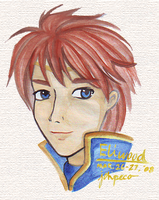 FE7: Eliwood watercolor by kageshoujo