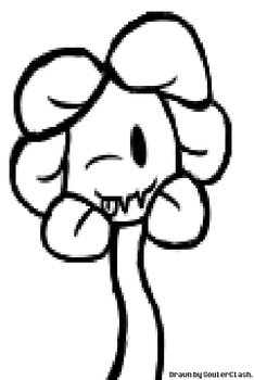 Cute Flowey - Sketch! by SoulerClash