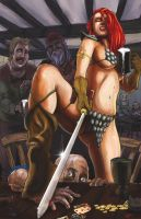 Red Sonja Bar scene by ErikHodson