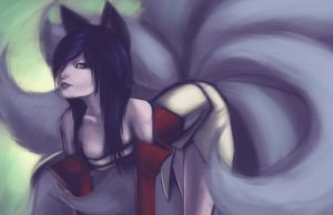 Ahri by Down-The-Stairs