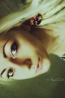 blonde girl self portrait by RioTAngiE