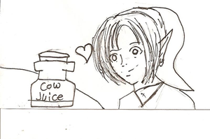Link and his milk by Keaton-Corrine