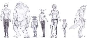 Races (study for a RPG) by GarmrKiDar