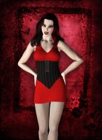 Vamp in Red by Silverwind3D