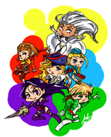 Marvel vs Capcom 2 chibiChicks by ARTofWrath