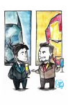 Bruce and Tony by Microbluefish
