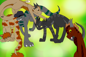 The gang of five by RainingRaven