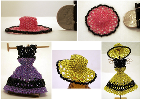 Open Weave Mini Bead Sun Hats by pinkythepink
