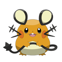 Dedenne anime version by Clophil