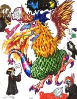 Harry Potter VS The Cockatrice by aoichan1