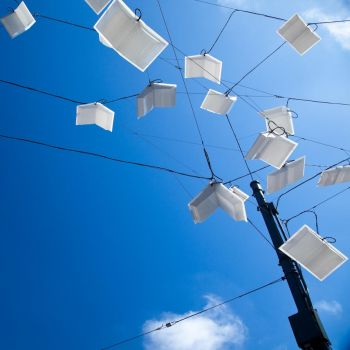 Books on a wire by dirtylittlecity