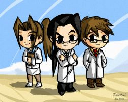 Wind Waker Shinra Scientists by ZerachielAmora