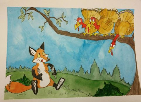 Aesop's The fox and the turkeys by Waddle2u