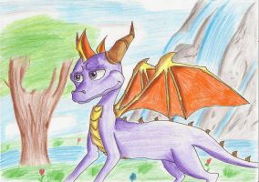 Spyro in Valley of Avalar by IcelectricSpyro
