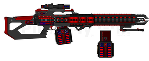 DII-DSC HPLMG-267 'Flare' Pulsed Laser Machine Gun by Lord-DracoDraconis