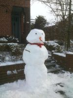 Greeted by The Snowman by Smaragd01
