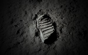 Moon Footprint - Buzz Aldrin by JohnnySlowhand