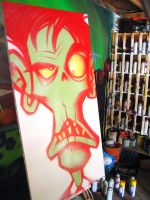 Zombie Canvas by RietOne